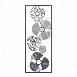 Decoration Murale Fleur : d coration murale en m tal fleurs 25x61cm argent ~ Teatrodelosmanantiales.com Idées de Décoration