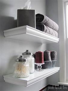 floating shelves over toilet tissue box containers With tips to decorate bathroom storage shelves