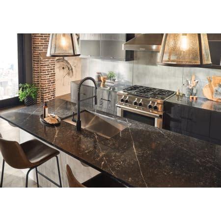 moen  chrome align pre rinse high arc kitchen faucet