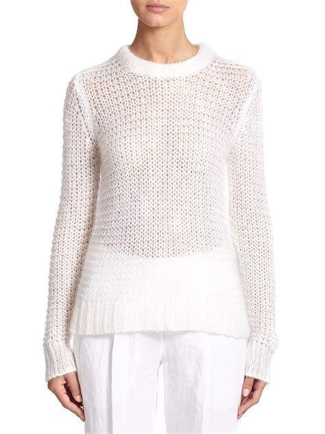 open knit sweater michael kors mohair open knit sweater in white lyst