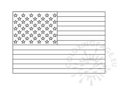 united states flag template coloring page