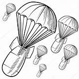 Bombs Bomb Sketch Vector Parachutes Nuclear Illustration Drawing Doodle Explosion Atomic Coloring Fuse Depositphotos Lhfgraphics Getdrawings sketch template