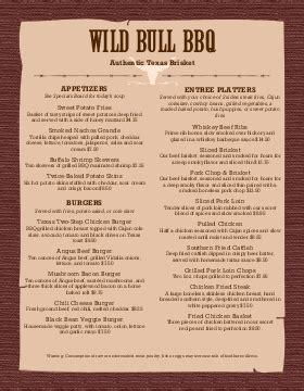 bbq menu templates word excel fomats