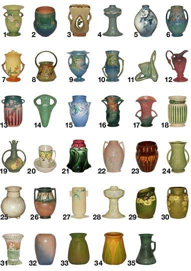 roseville pottery pattern guide   house