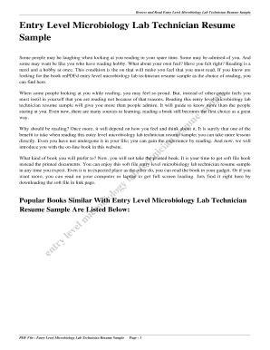 editable microbiology lab technician resume sle fill