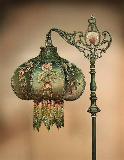 antique l shades with fringe victorian bridge l with beaded fringe antique l