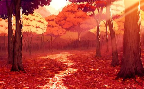 Autumn Anime Wallpaper - anime autumn scenery wallpaper 1920x1200 14670