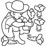 Farmer Coloring Farm Clipart Colouring Vegetables Ninja Clip Weapons Printable Tentara Learning Fun Boy Sheet Ipin Upin Carrot Carrots Arsenal sketch template