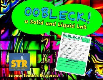 oobleck solid  liquid lab  science teacher