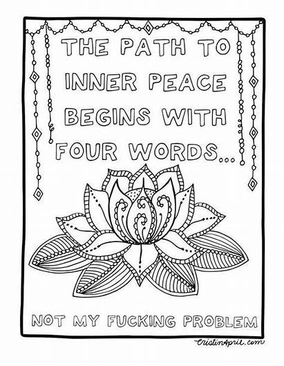 Coloring Pages Adult Printable Quotes Colouring Adults