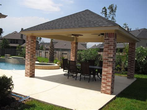 free patio design free standing patio covers gazebos and pool cabanas billy parker exteriors