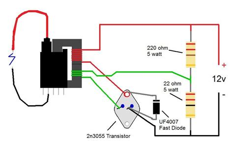 2n3055 flyback transformer driver for beginners
