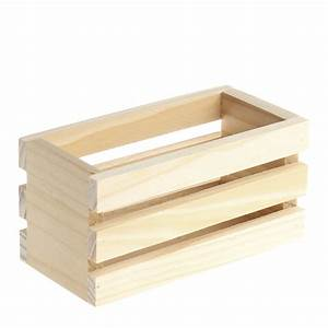 Small Unfinished Wood Crate - Decorative Containers