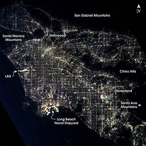 Los Angeles at night, as seen from the International Space ...