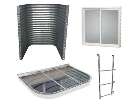 galvanized window well complete egress window kit galvanized steel well 1190
