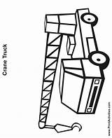 Crane Coloring Truck Pages Drawing Sheet Printactivities Clipartmag Popular sketch template