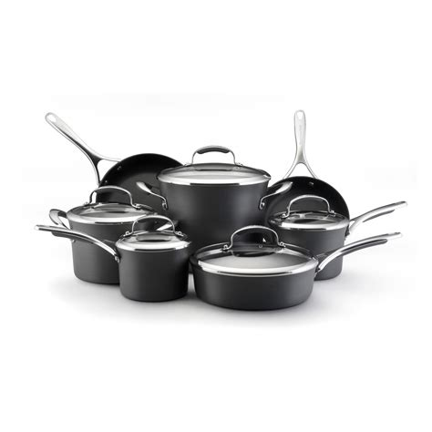 kitchenaid cookware anodized hard nonstick gourmet piece non stick sets pan hayneedle pot essentials