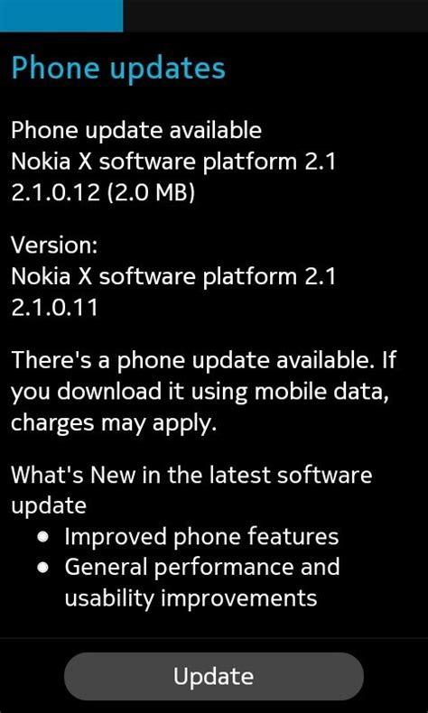 nokia  receives  software update  os version