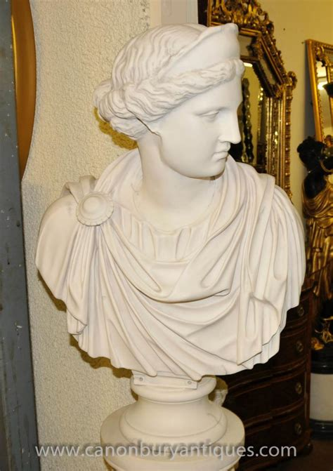 marble resin bust athena greek goddess statue