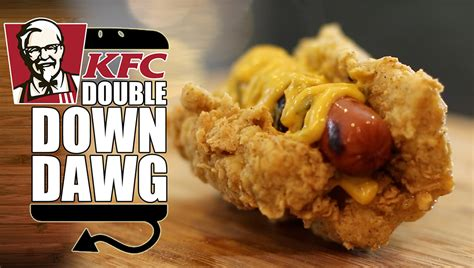 kfc double  dog epic hot dog everbody sucks