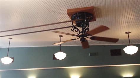 Antique Belt Driven Ceiling Fans Interior Design