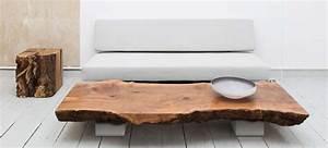 Table Basse Bois Brut : table bois brut table a manger design maison boncolac ~ Melissatoandfro.com Idées de Décoration
