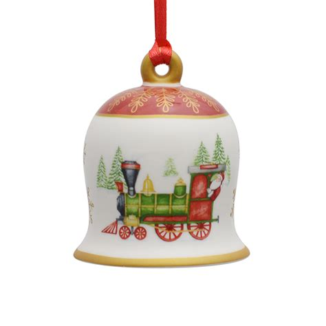 villeroy and boch porcelain bell ornament 2017 silver