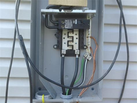 Mobile Home Meter And Breaker Box Wiring by Power To 200 Box With Generator Electrical Diy