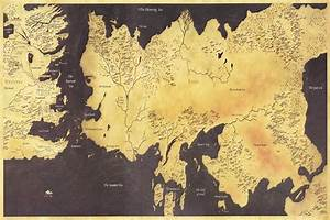 Custom Game of Thrones Map Wallpaper World Map Wall ...