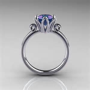 alexandrite engagement ring antique 14k white gold 1 5 ct chrysoberyl alexandrite engagement ring ar127 14kwgal