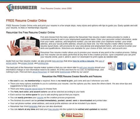 Resume Creator Reviews by Resumizer Free Resume Creator Alternatives And Similar