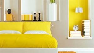Quelle Couleur Associer Au Jaune Pale : jaune couleur d co peinture inspiration c t maison ~ Melissatoandfro.com Idées de Décoration