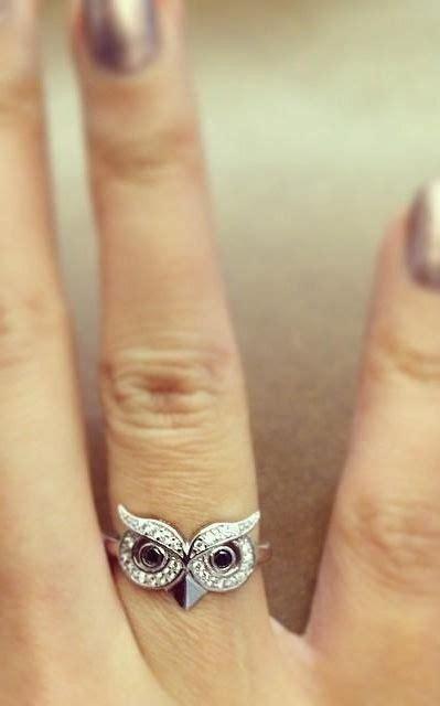 owl wedding ring best 25 owl ring ideas on owl jewelry owl animal and animal jewelry
