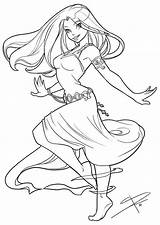 Coloring Pages Adult Dancing Drawings Deviantart Anime Angel Sabinerich Drawing Colouring Lineart Line Flowing Sheets Sabine Books Colorful Female Dibujos sketch template