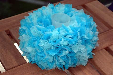 paper centerpieces for tables diy or don 39 t tutorial tissue paper mini wreath centerpiece