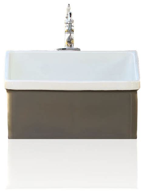 grey brown vintage style kohler hollister farm sink apron