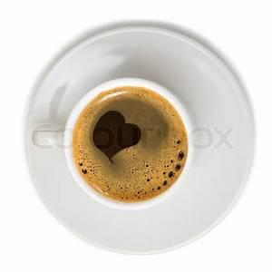 Kaffeetasse Mit Herz : kaffeetasse mit herz symbol auf wei em hintergrund stockfoto colourbox ~ Yasmunasinghe.com Haus und Dekorationen
