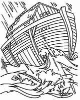 Ark Coloring Flood Pages Noah Noahs Drawing Preschool Printable Sheet Getdrawings Getcolorings sketch template