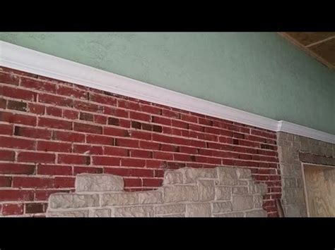 Install crown moulding on brick wall   YouTube
