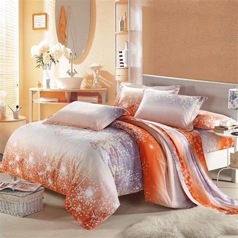 asian cherry blossom 100 cotton bedding sets in grey
