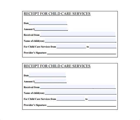 blank receipt templates  samples examples