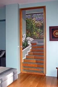 Image Trompe L Oeil : trompe l 39 oeil dipinto a mano su porta cm 100x250 ~ Melissatoandfro.com Idées de Décoration