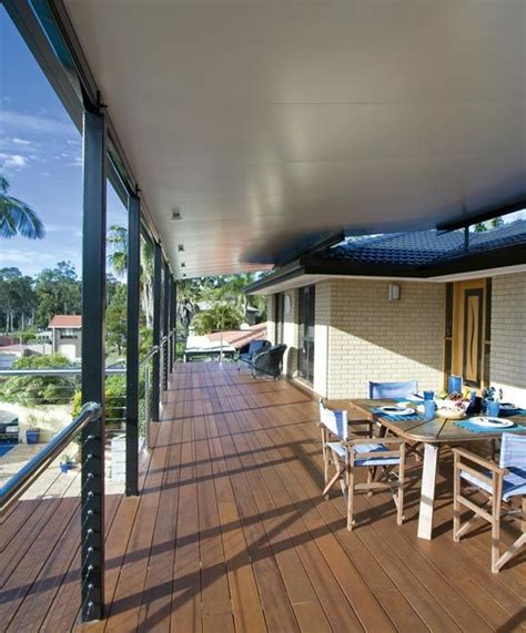 House Patio by Stratco Cooldek Roofing For Awnings Carports Pergolas