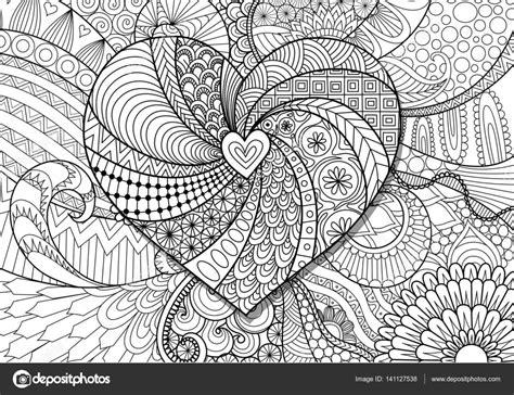 Ausmalbilder Für Erwachsene Herzen : Herz Auf Floraler Hintergrund Für Erwachsene Malvorlagen