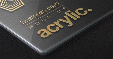 acrylic psd business card mock  psd mock  templates