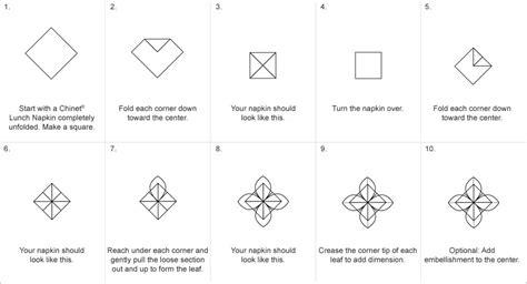 Servietten Falten Anleitung by Poinsettia Napkin Fold Napkin Folds Chinet 174