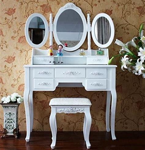 schminktisch mit spiegel und hocker schminktisch inkl hocker frisierkommode frisiertisch spiegel kosmetiktisch kaufen bei woonio