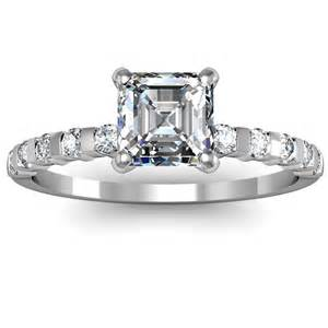 cut engagement rings asscher cut bar set engagement ring engagement rings review