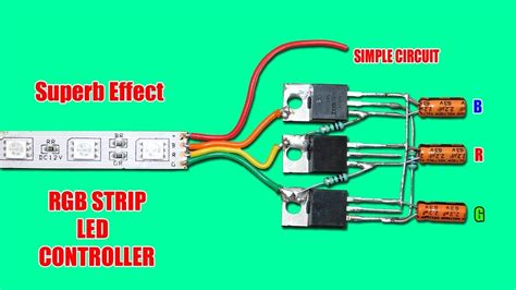 Superb Effect Rgb Strip Led Controller Circuit Youtube