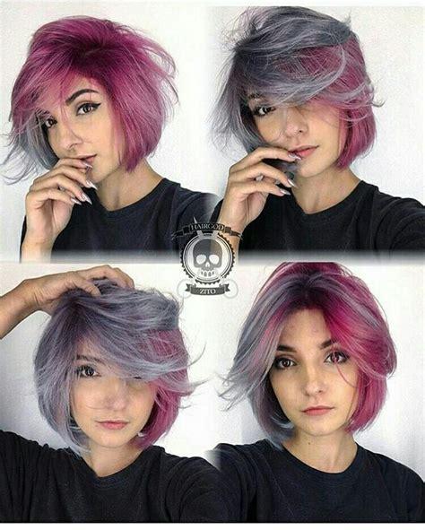 Best 25  Short purple hair ideas on Pinterest   Short
